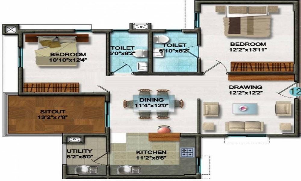 DSR Ultima Floor Plan