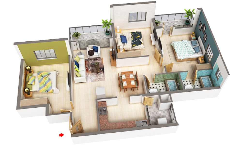 Fern Valley Fern Saroj Floor Plan
