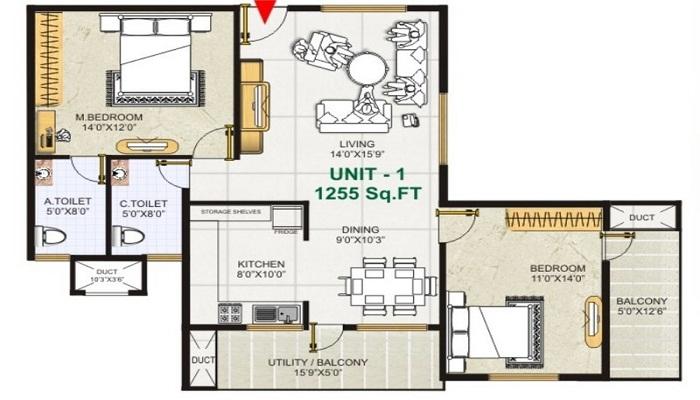 GK Shelters Golden City Floor Plan
