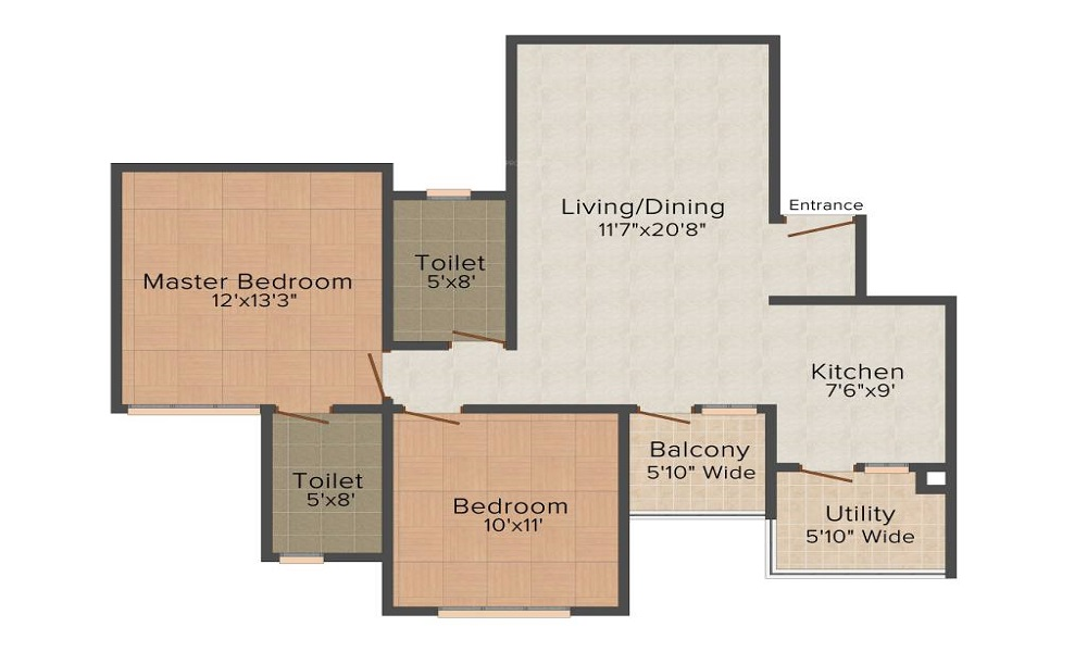 HM Constructions North City Floor Plan