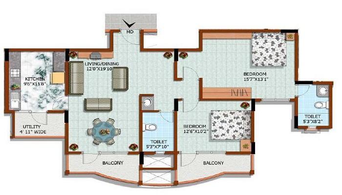 HM Constructions Sepia Floor Plan