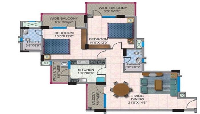 HM Constructions World City Floor Plan