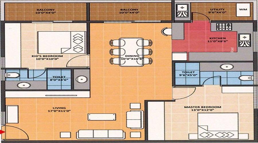 Navanaami Lavender Floor Plan