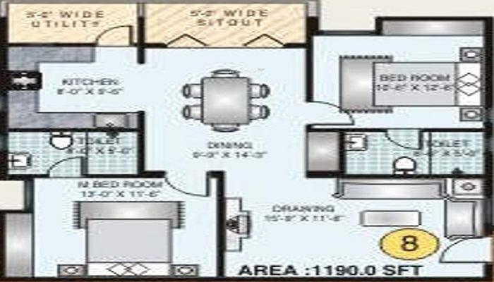 Keerthi Constructions JC Keerthi Arcade Floor Plan
