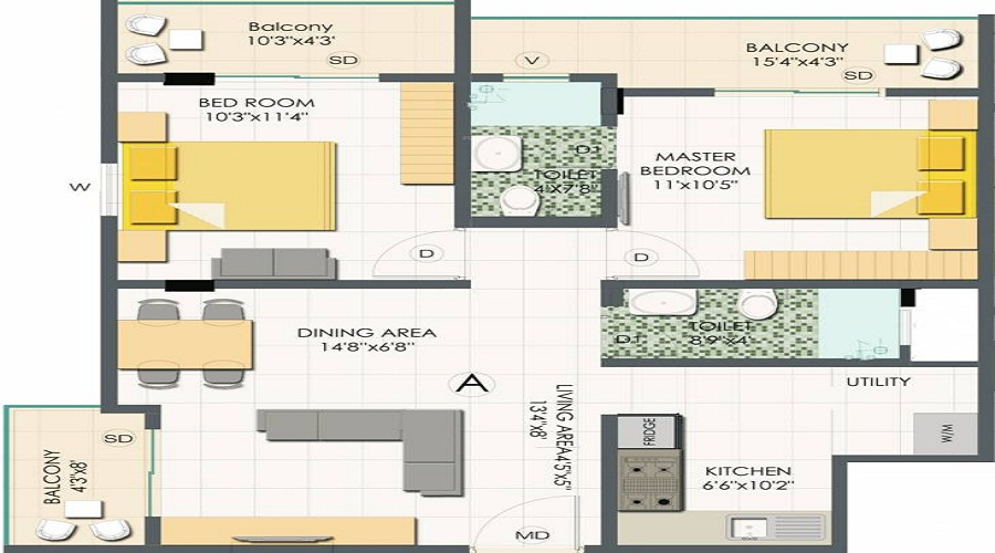 White Coral Cocoon Floor Plan