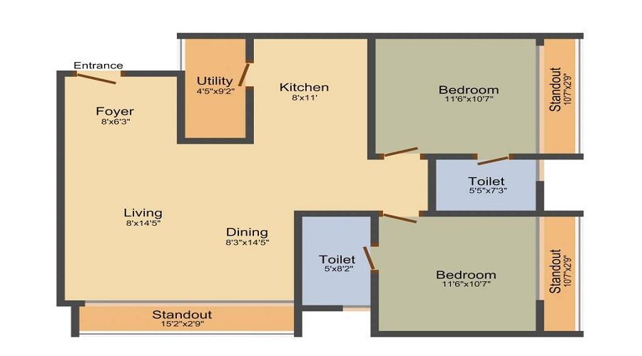 Dhammanagi Garden Terrace Floor Plan