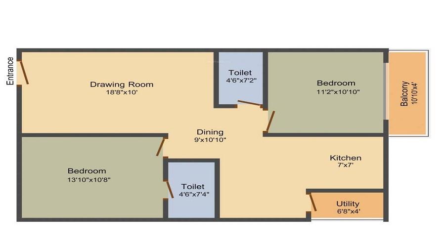 KR Madhav Heights Floor Plan