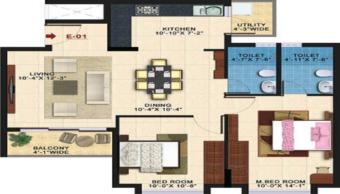 Kolte Patil Raaga Floor Plan