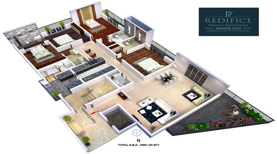 Redifice Maddox Edge Floor Plan