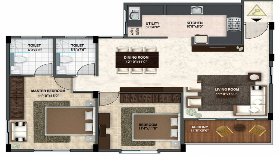 Krishvi Wisteria Floor Plan