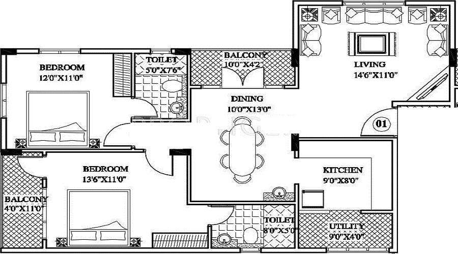 Petra Ikcon Gardenia Floor Plan