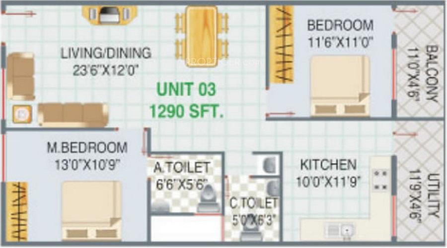 GS Ajantha Vihar Floor Plan