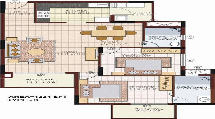 NCC Nagarjuna Meadows Floor Plan