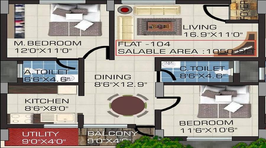 Vijayalakshmi Enclave Floor Plan