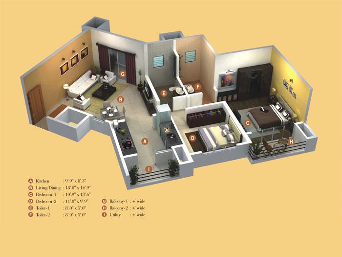 Kumar Prince Town Floor Plan