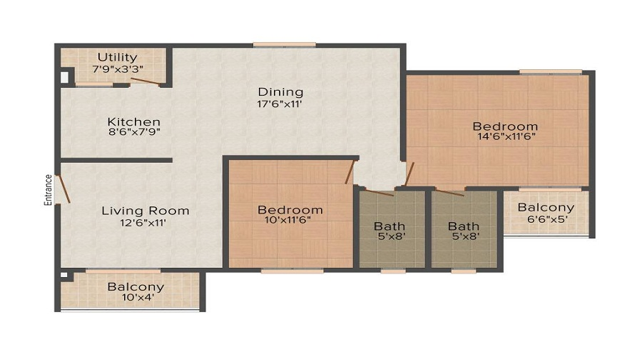 Madhuban Brindavan Apartments Floor Plan