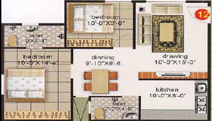 Mahaghar Properties Sai Srinivasa Enclave Floor Plan