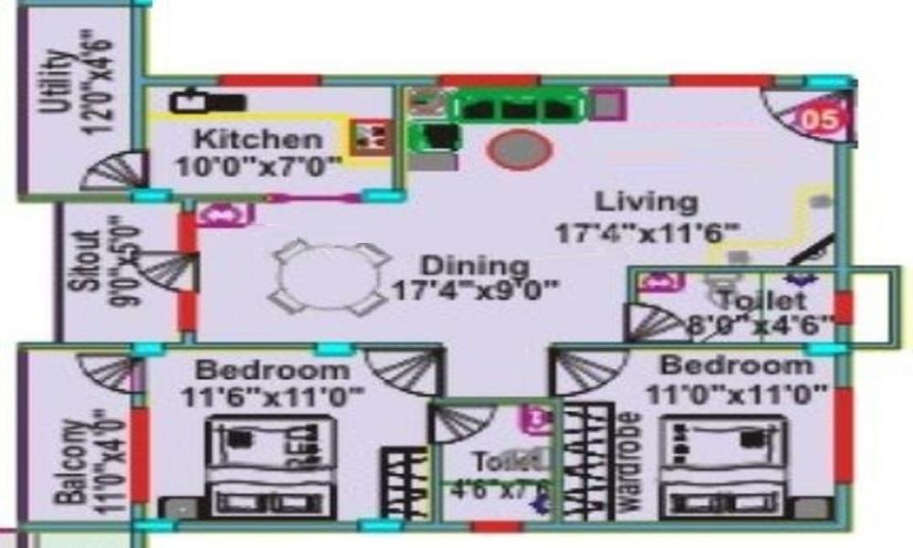 Mahaveer Clover Floor Plan
