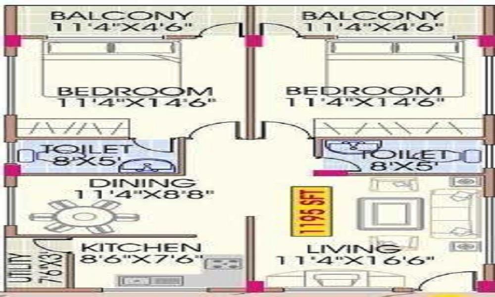 Mahaveer Dazzle Floor Plan