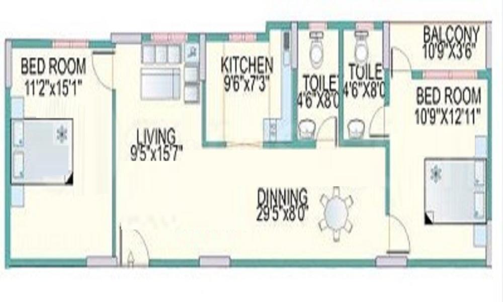 Mahaveer Mahaveer Chalet Floor Plan