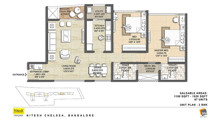 Nitesh Chelsea Floor Plan