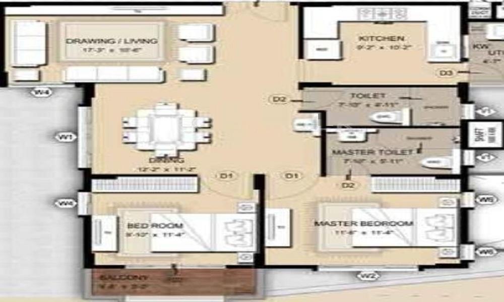 Mahaveer Maple Floor Plan