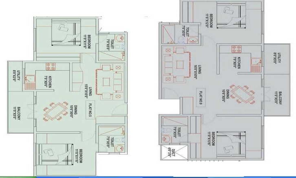 Niranjan Developers Maxima Floor Plan