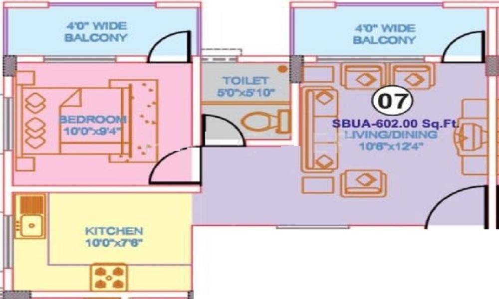 Nisarga Builders Nisarga Gateway Floor Plan