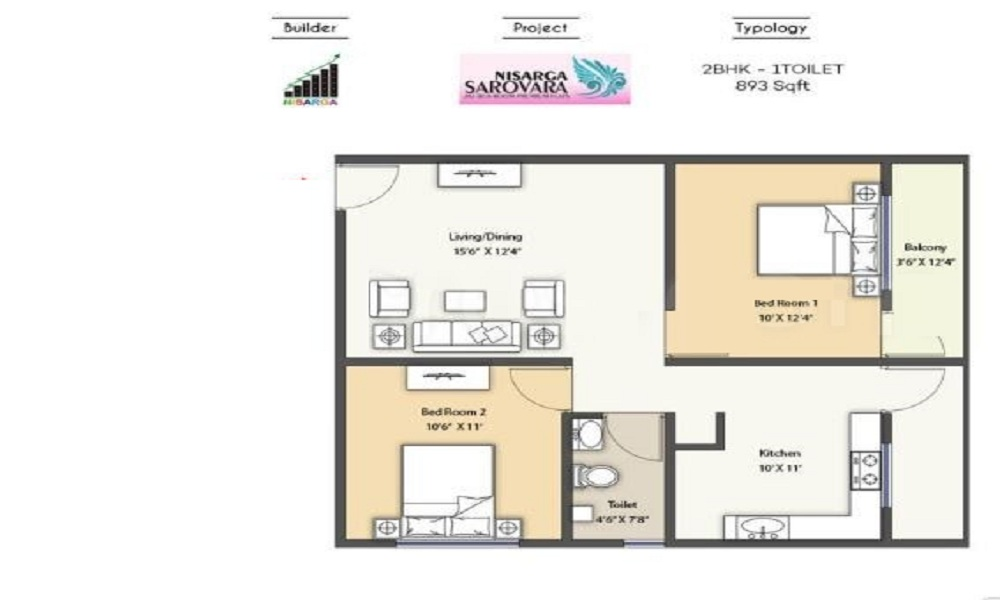 Nisarga Builders Sarovara Floor Plan