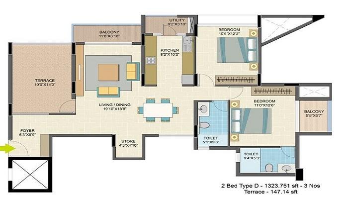 Nitesh Caesars Palace Floor Plan