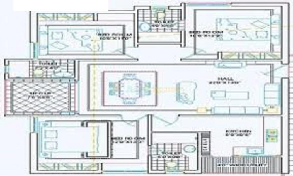 Pavani Homes Pavani Chandana Floor Plan