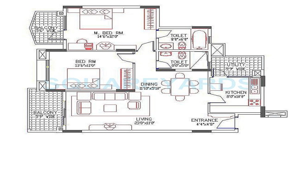 Puravankara Fountain Square Floor Plan