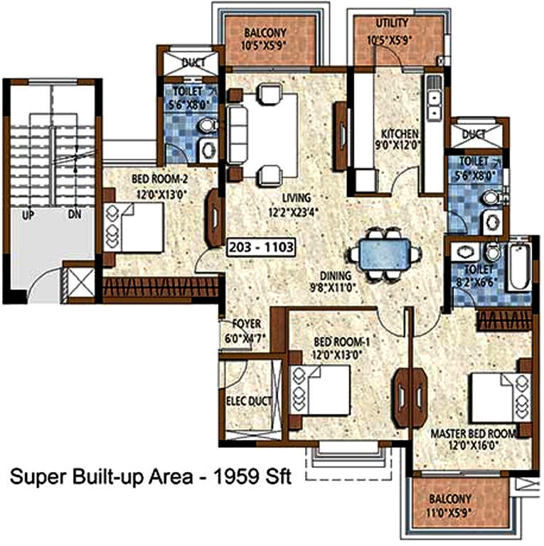 Puravankara Purva Atria Floor Plan