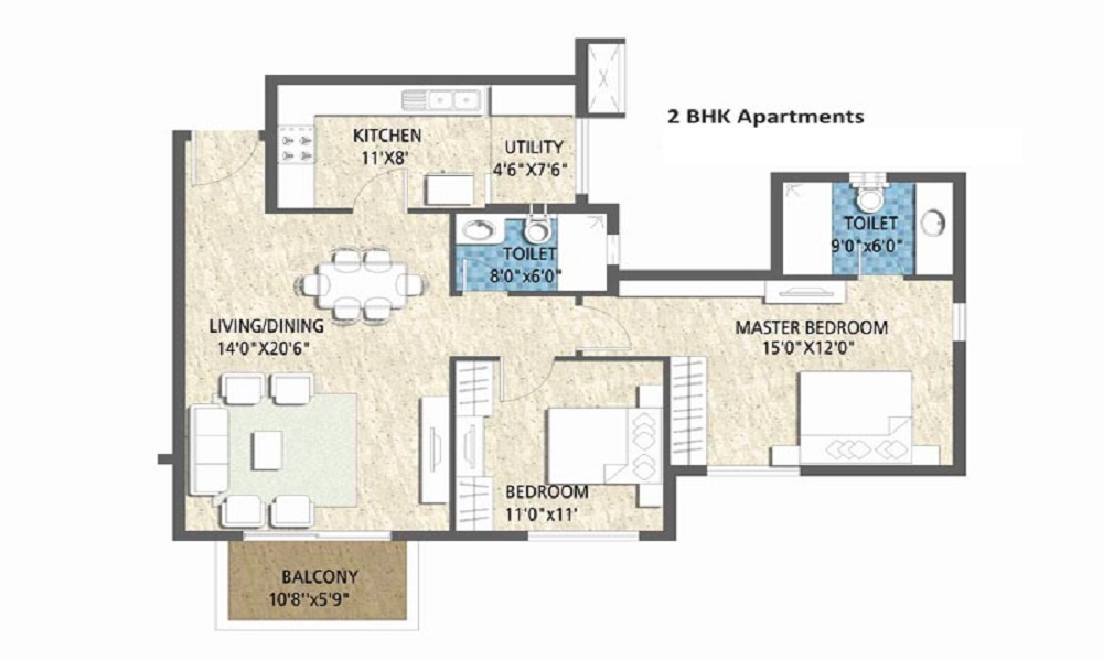 Puravankara Purva Fairmont Floor Plan