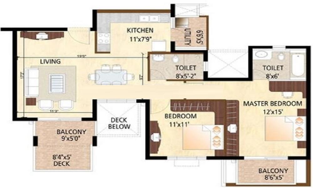 Puravankara Purva Highlands Floor Plan