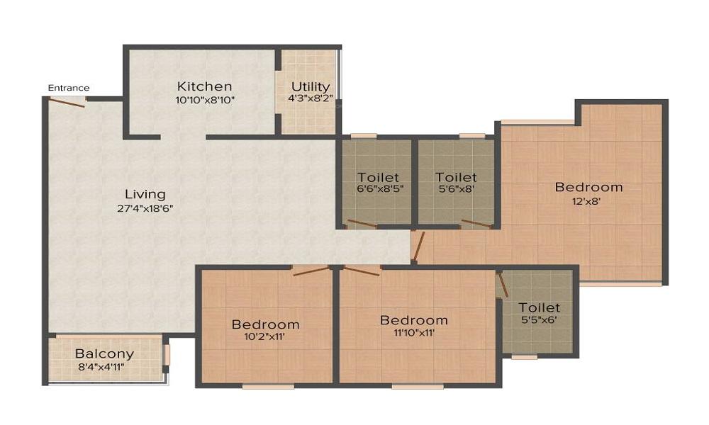 Puravankara Purva Midtown Residences Floor Plan