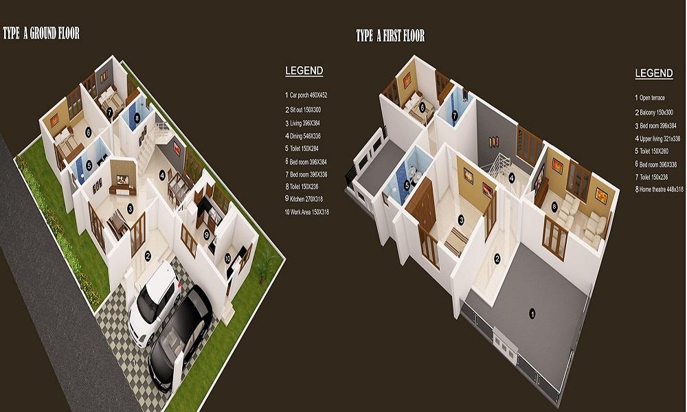 Puravankara Purva Parkridge Floor Plan
