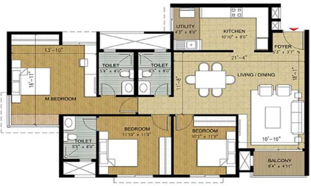 Puravankara Purva Seasons Floor Plan