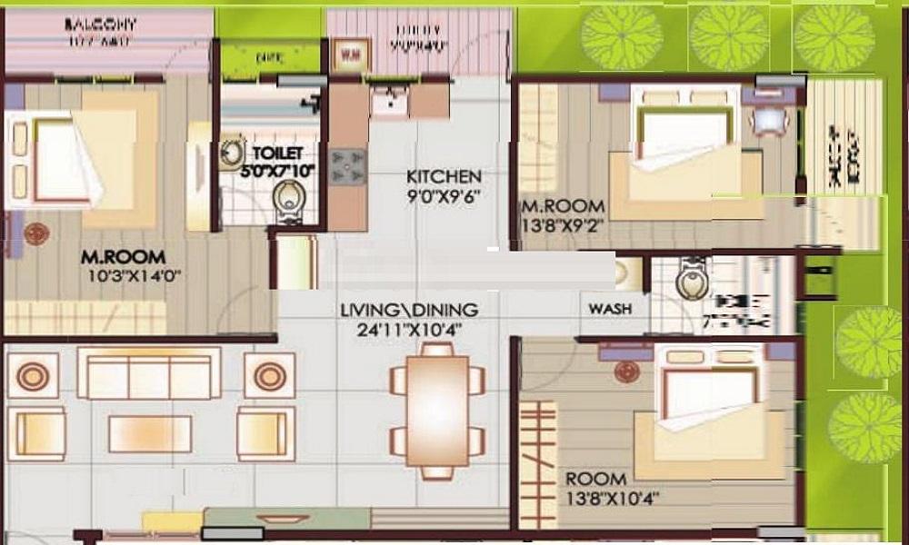 Rainbow Properties Waterfront Floor Plan