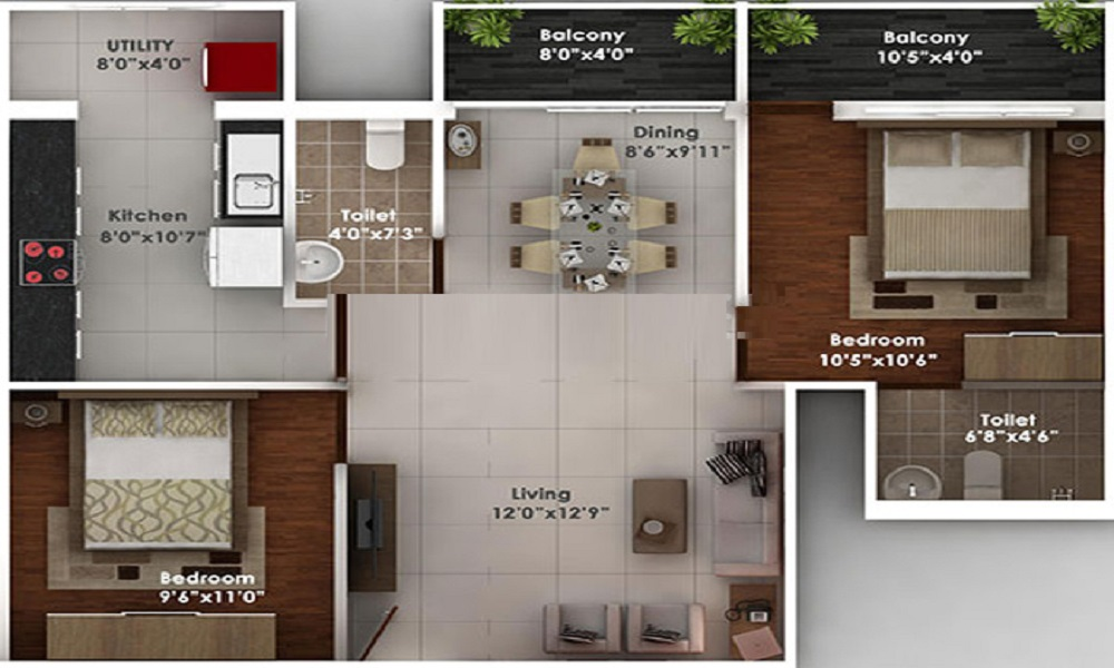 Reputed Builder Arjun Enclave Floor Plan
