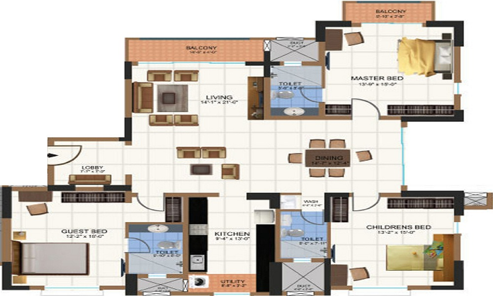 Salarpuria Sattva Group Gold Summit Floor Plan
