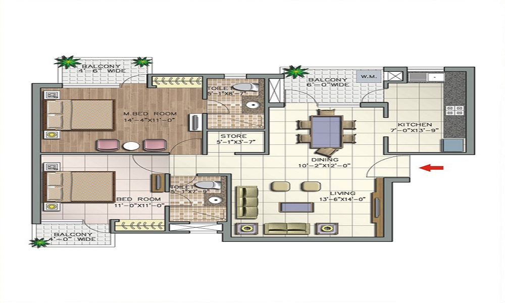 Shriram Shivaranjani Apartments Floor Plan