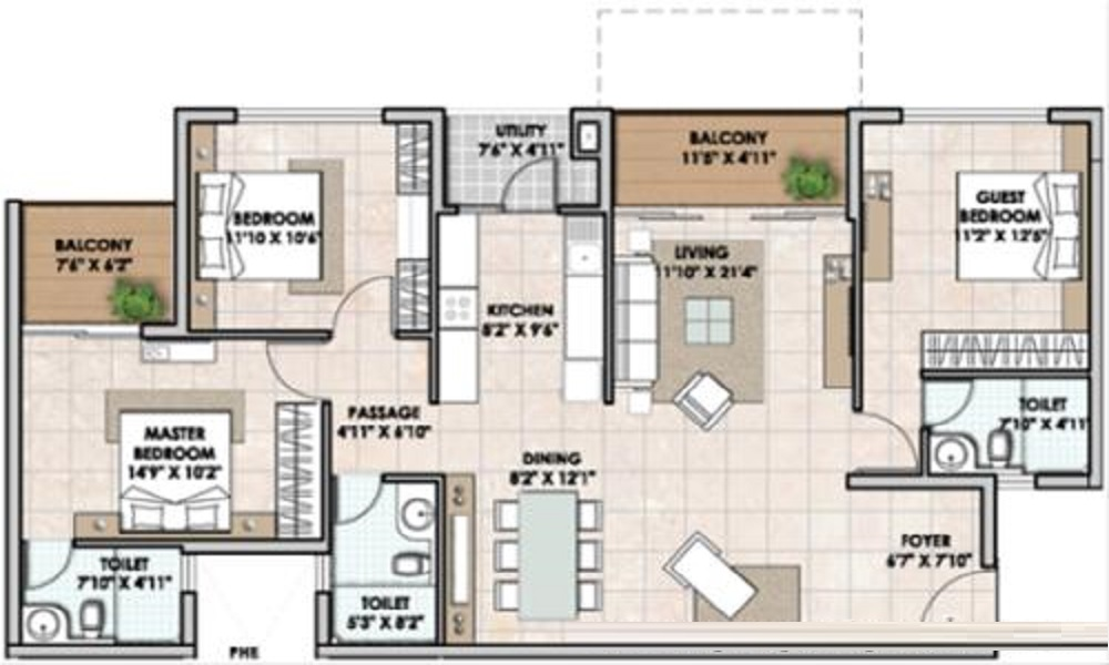 SJR Group Park Vista Floor Plan