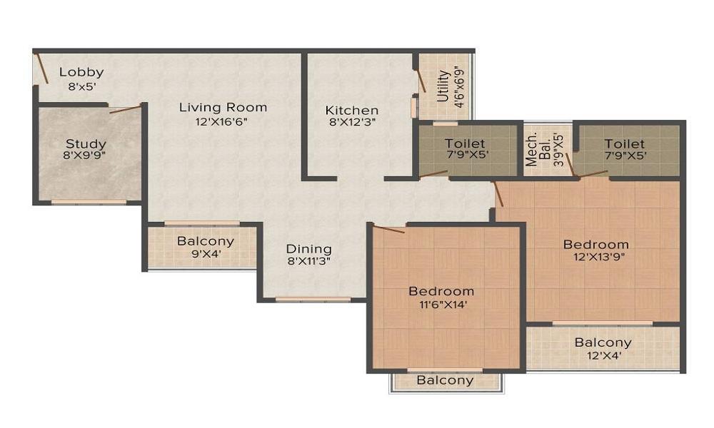 Nitesh Melbourne Park Floor Plan