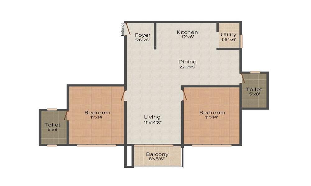Srinivasa Developers Sai Poorna Premier Floor Plan
