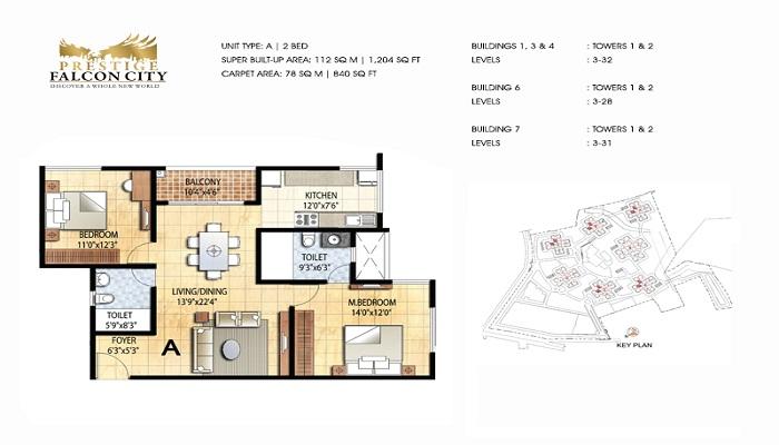 Prestige Falcon City Floor Plan