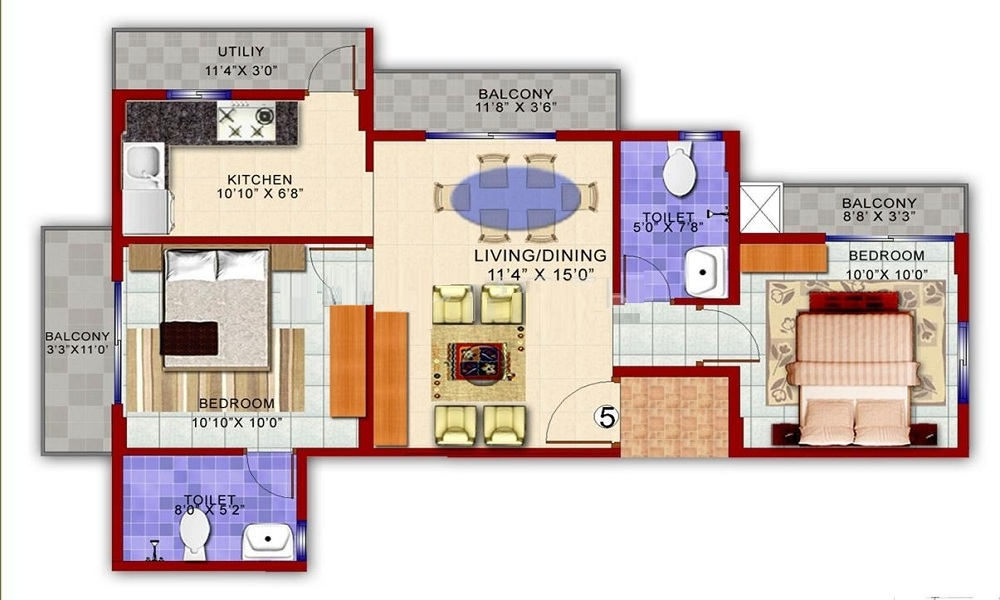 Vakil Housing Whispering Woods Residences Floor Plan