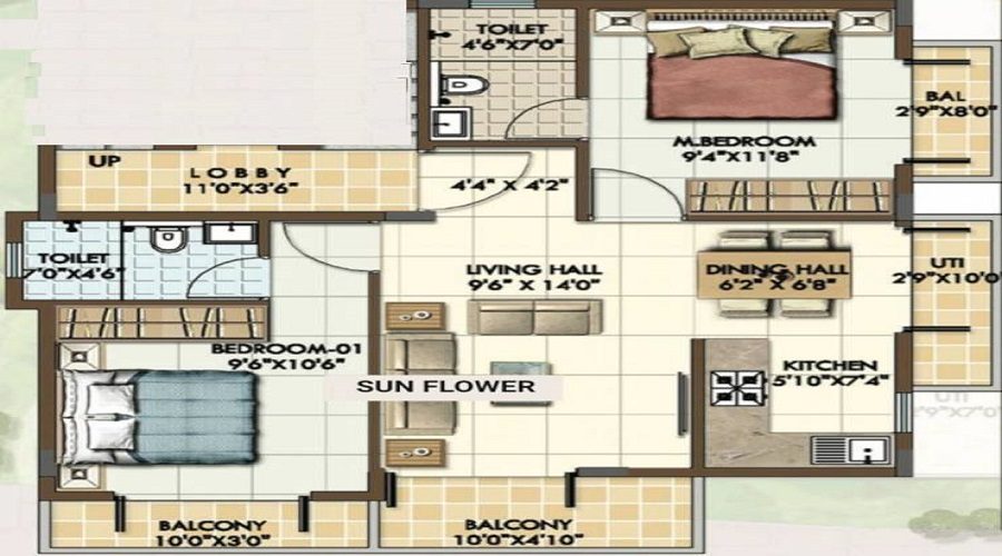 Sterling Snowdrop Floor Plan