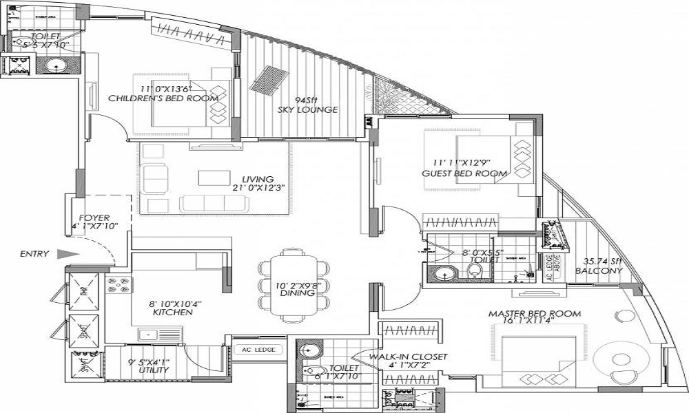 Vaswani Group Reserve Floor Plan
