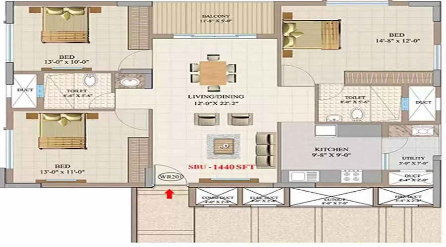 Trivik Windwalk Floor Plan